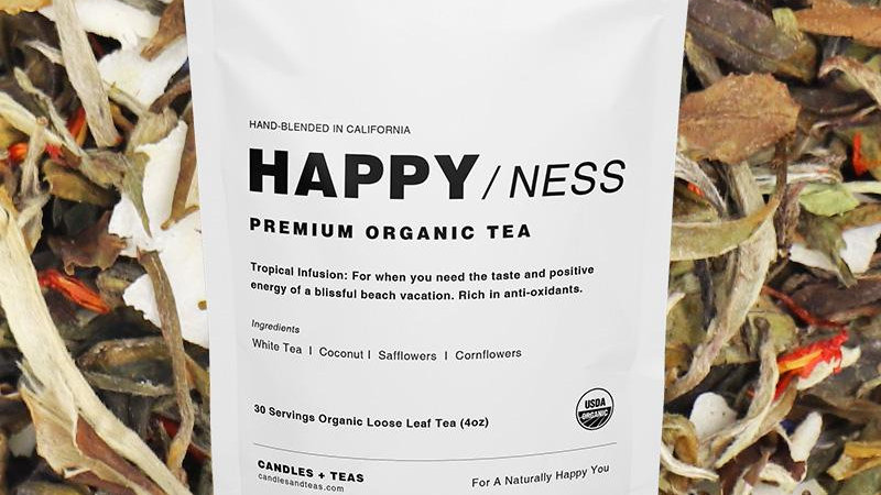 Happy/ness Tea: Organic White Peony Tea with Coconut