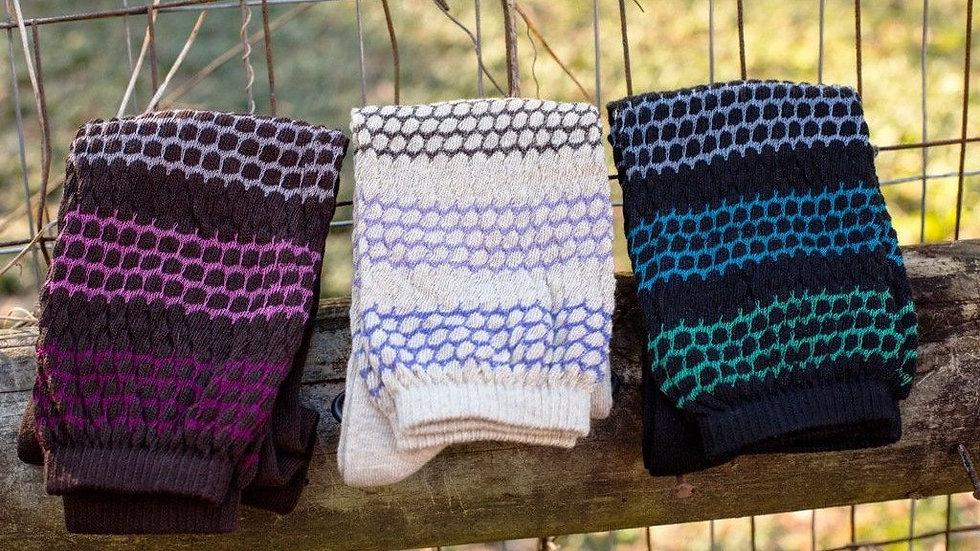 Women's Slouch or Knee High Organic Cotton Socks, 2 Pr. or 3 Pr. Pack