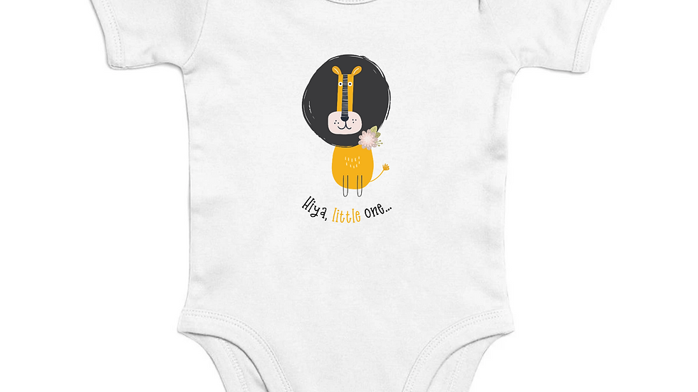 Little One Short Sleeve Organic Baby Bodysuit