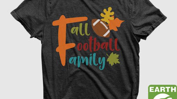 Eco Friendly Recycled Fall Football family T-shirt