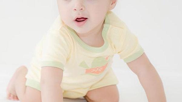 Li'l Birdie's Tea party:  Unisex Organic Baby Romper - Short length