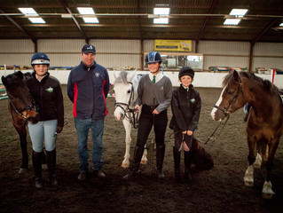 Junior showjumping team have a lesson with Richard Waygood
