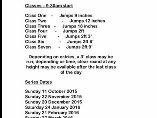 Our Jumping Series, dont forget the February date is the 14th (for all you jumping lovers out there)