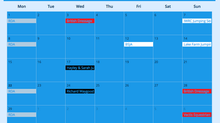 Lake Farm online calender