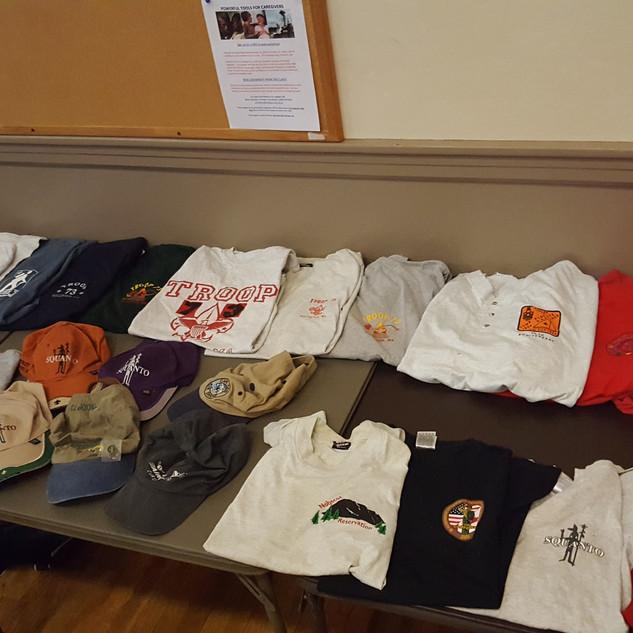 Collection of Mr Tyman's Class B uniform shirts