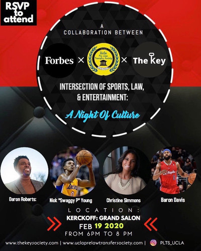 Intersections of Law, Sports and Entertainment: A Night of Culture