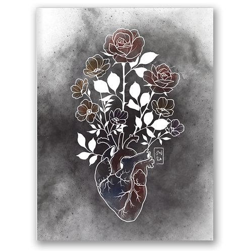 Heart Vase Print - by Saga
