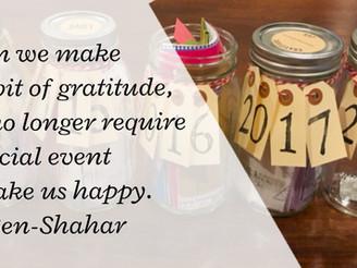 5 years of Gratitude Jars
