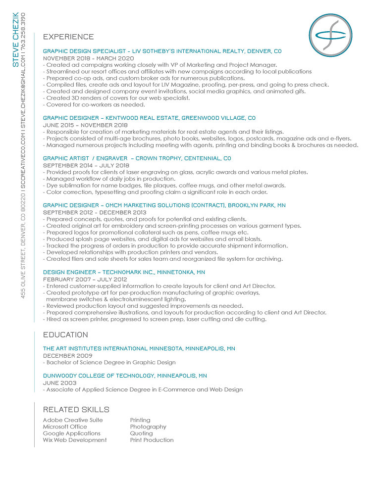Resume of Steve Chezik.jpg