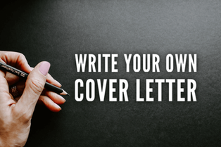 Write Your Own Cover Letter