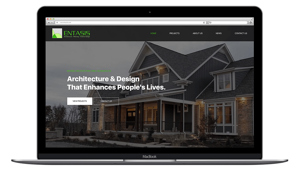 Architectural Firm Website Desig and Development, Entasis