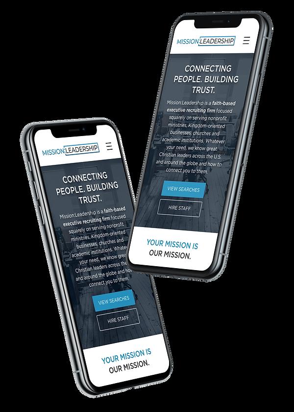 high performance website design, responsive website design, mobile web dmission leadershipsign