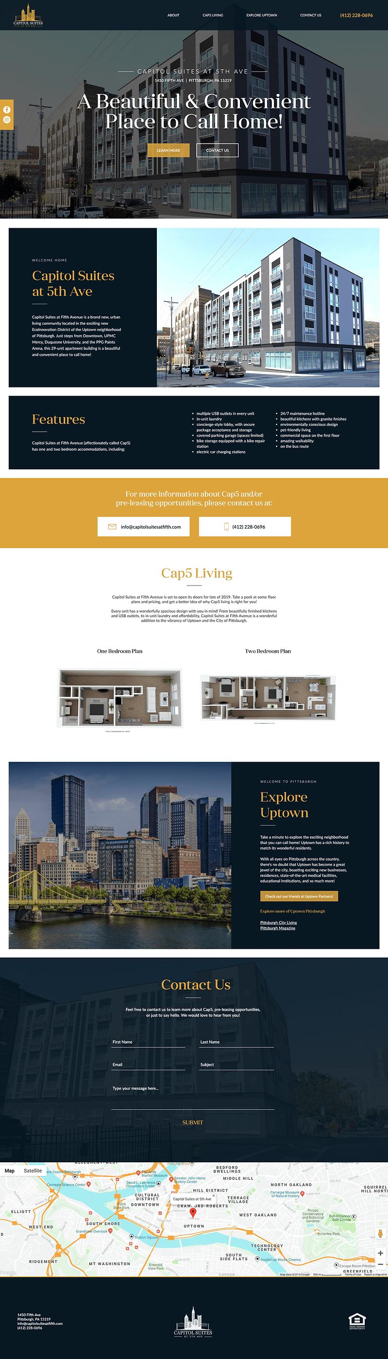 capitol suites website design