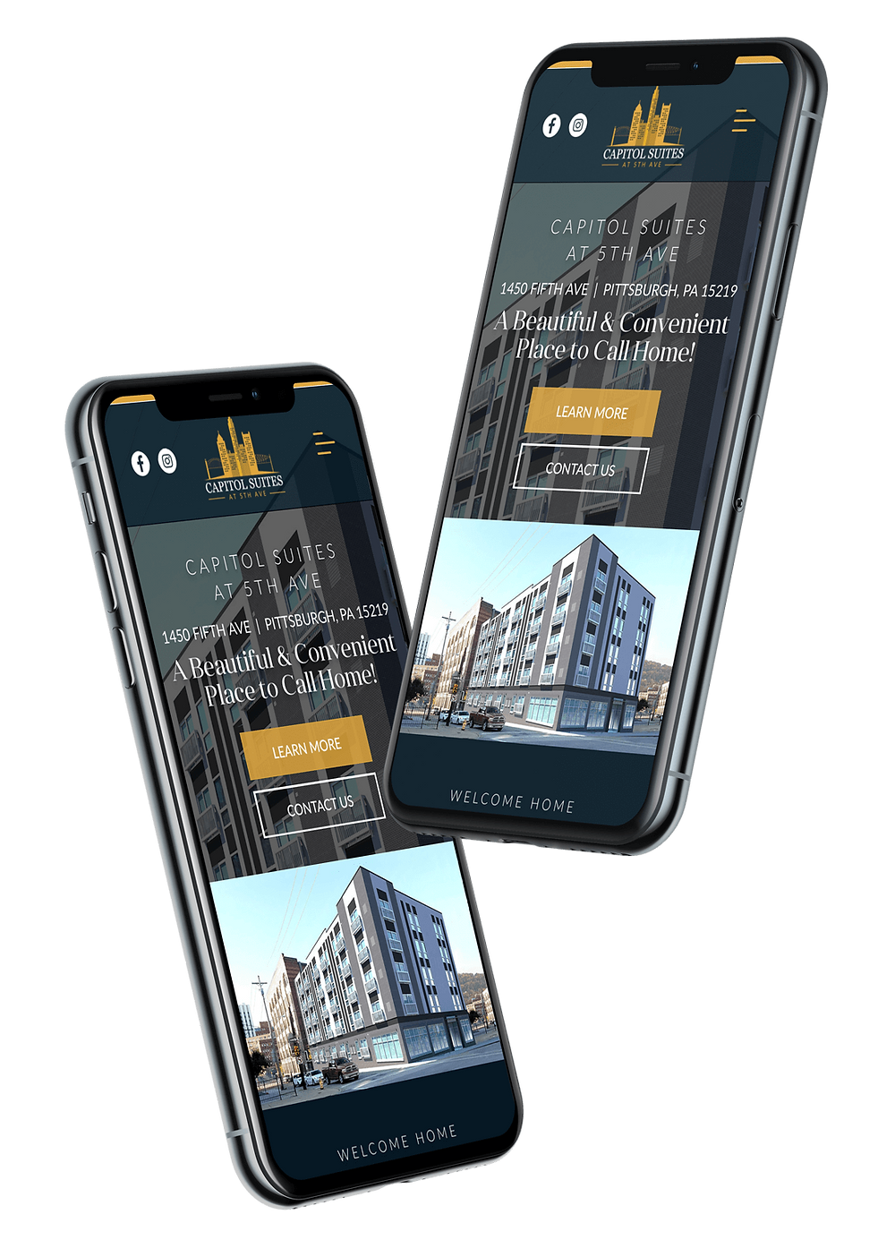 iphone website design android mobile version responsive