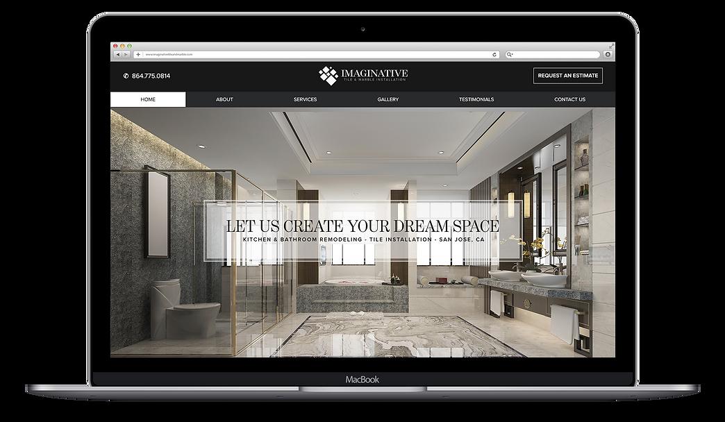 website design, home remodeling website design, imaginative tile and marble, web design, branding design, logo design, high end web design