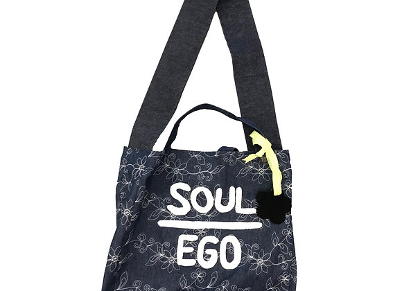 SOE DENIM EMBROIDERED TOTE