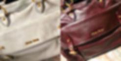 Réparation sac maroquinerie de luxe Miu Miu