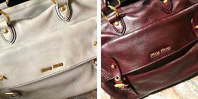 Réparation d'un sac à main Miu Miu