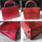 Rénovation d'un sac Hermès Kelly exotique