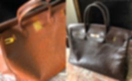 Réparation d'un Birkin Hermès en autruche