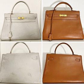 Reteinte d'un sac de luxe Hermès