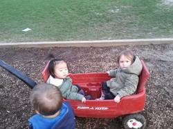 Kidzone Toddlers Wagonning Around
