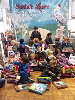 Kidzone Preschoolers at Toy Drive