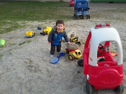 Enjoying the sand box