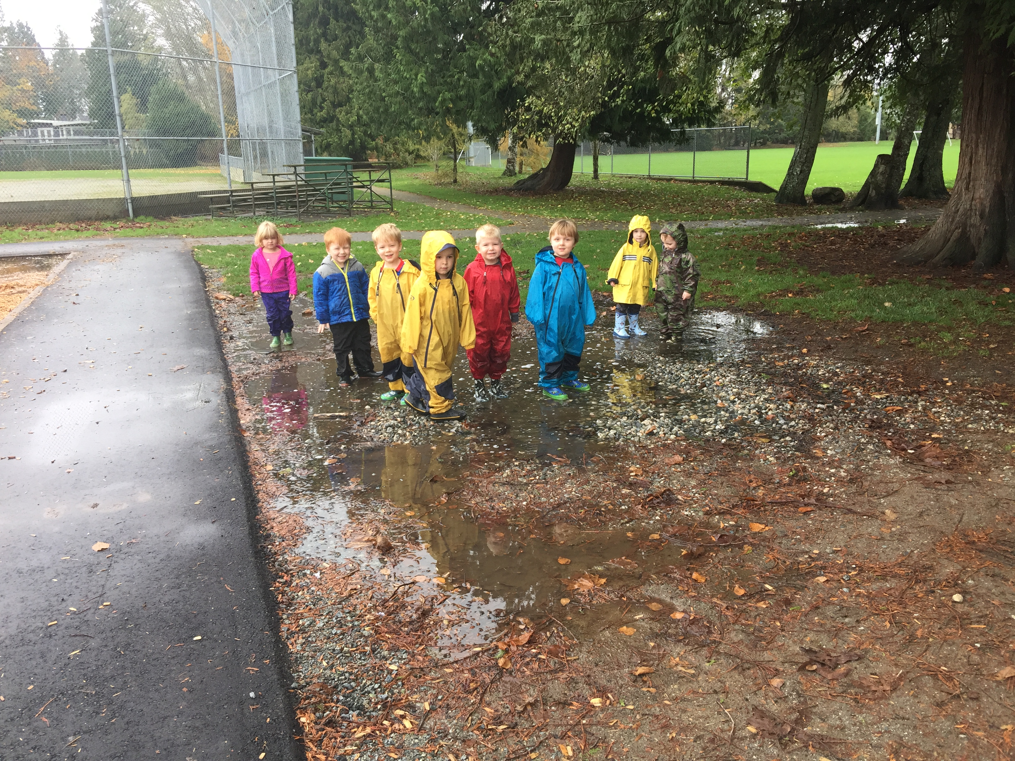 Jumping in puddles