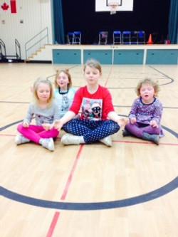 Meditation lead by big kids