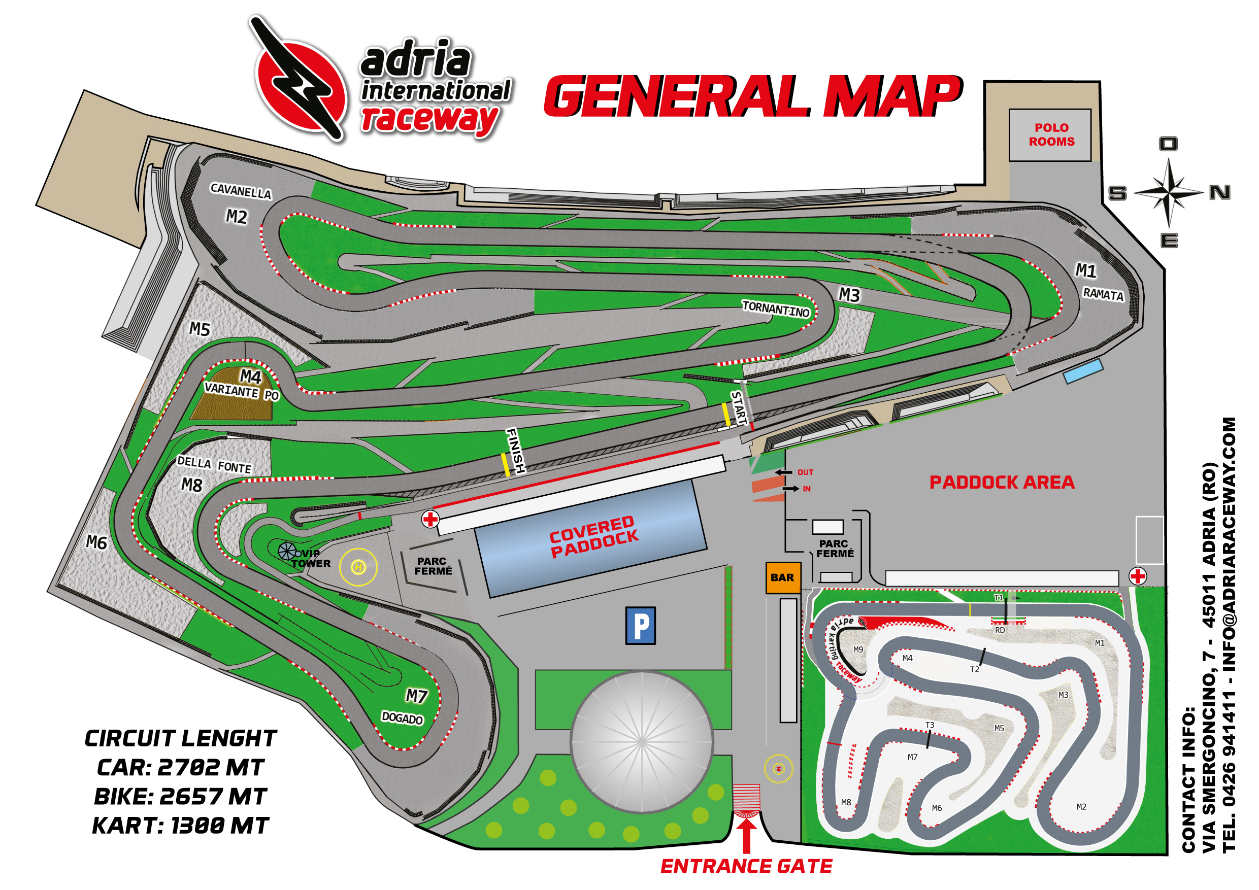 Adria international raceway map tracciato