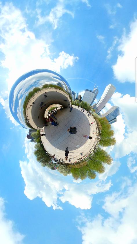 Animações 360 Graus com efeito Tiny Planet