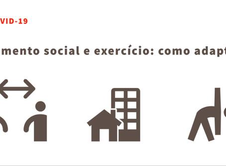 Isolamento social e exercício: como adaptar ?