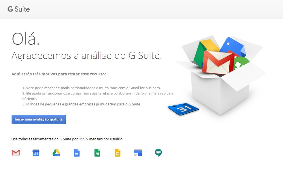Ganhe produtividade utilizando todas as ferramentas do Google G Suite.