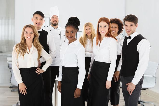 Group Of Confident Multi Ethnic Restaura