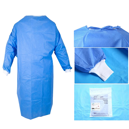 Surgical Disposable Isolation Gown (100 pkg)