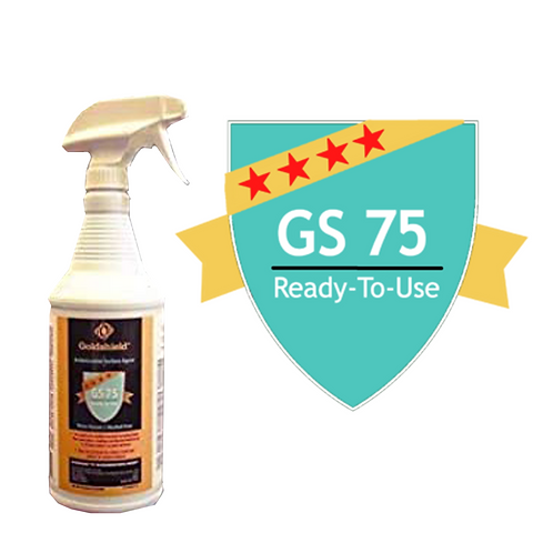 Goldshield GS 75 Surface Antimicrobial Ready to Use 32 oz Spray Bottle