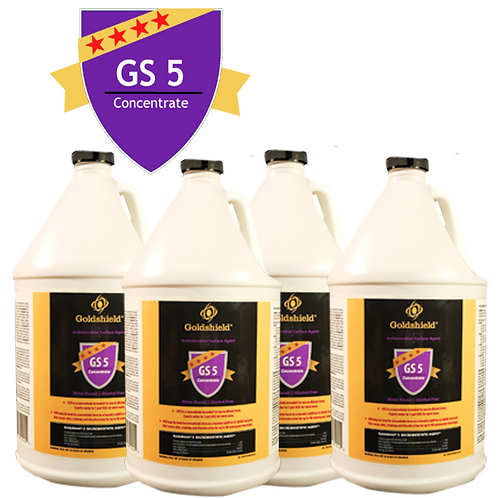 Goldshield GS 5 Antimicrobial Concentrate (4) 1 Gallon Bottles