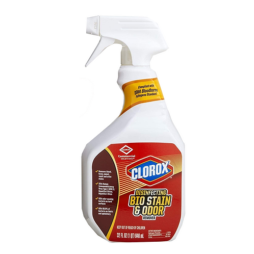 Clorox Bio Stain and Odor Remover Cleaner (32 oz) bottle