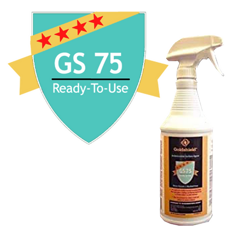 Goldshield GS 75 Surface Antimicrobial Ready to Use 4oz Spray Bottle