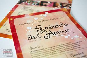Invitation pour une fête de mariage