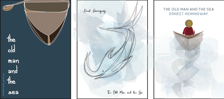 3 Book Cover Designs for Old Man And The Sea