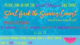 Summer Acapella Concert Flyer