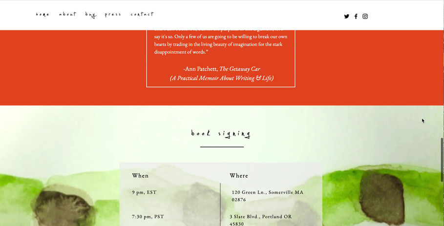 Book Landing Page for A State Of Wonder