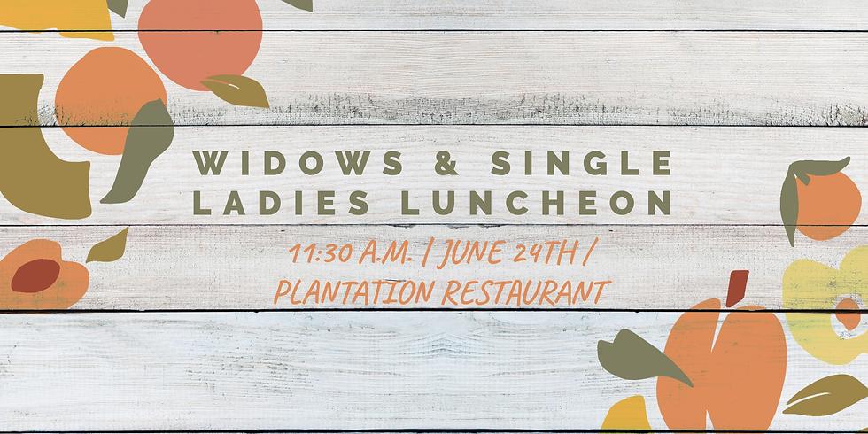Widows / Single Ladies Luncheon