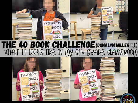 The 40 Book Challenge in my Classroom