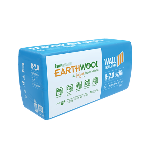R2.0 90mm Knauf EARTHWOOL GLASSWOOL BATTS 580S