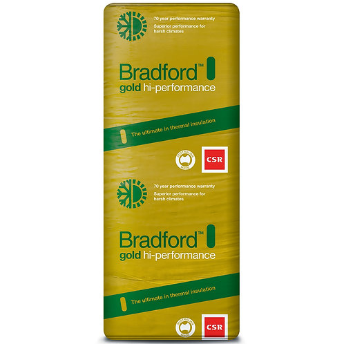 R2.5 90mm High Perfrormance BRADFORD GOLD GLASSWOOL BATTS 420S