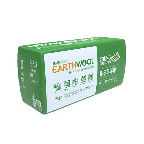 R3.5 Ceiling Knauf EARTHWOOL GLASSWOOL BATTS 580S