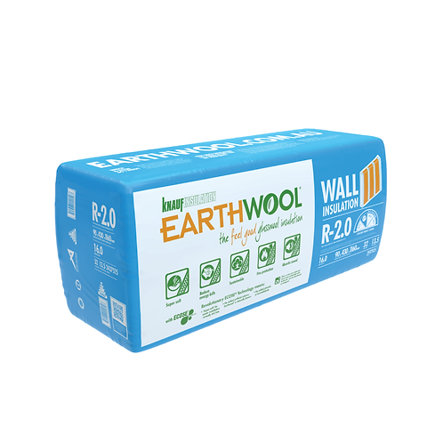 R2.0 90mm Knauf EARTHWOOL GLASSWOOL BATTS 430S